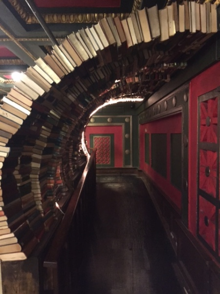A tunnel of books at The Last Bookstore.