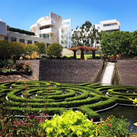 A little refresher in the gardens at the Getty.