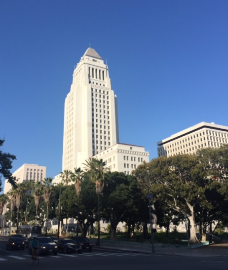 City Hall, made famous on film in everything from Dragnet to L.A. Confidential.
